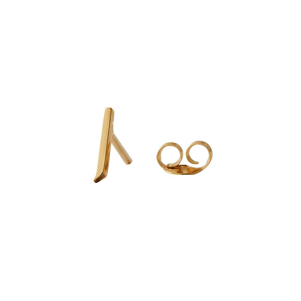 Design Letters Örhänge Guld Bokstav J