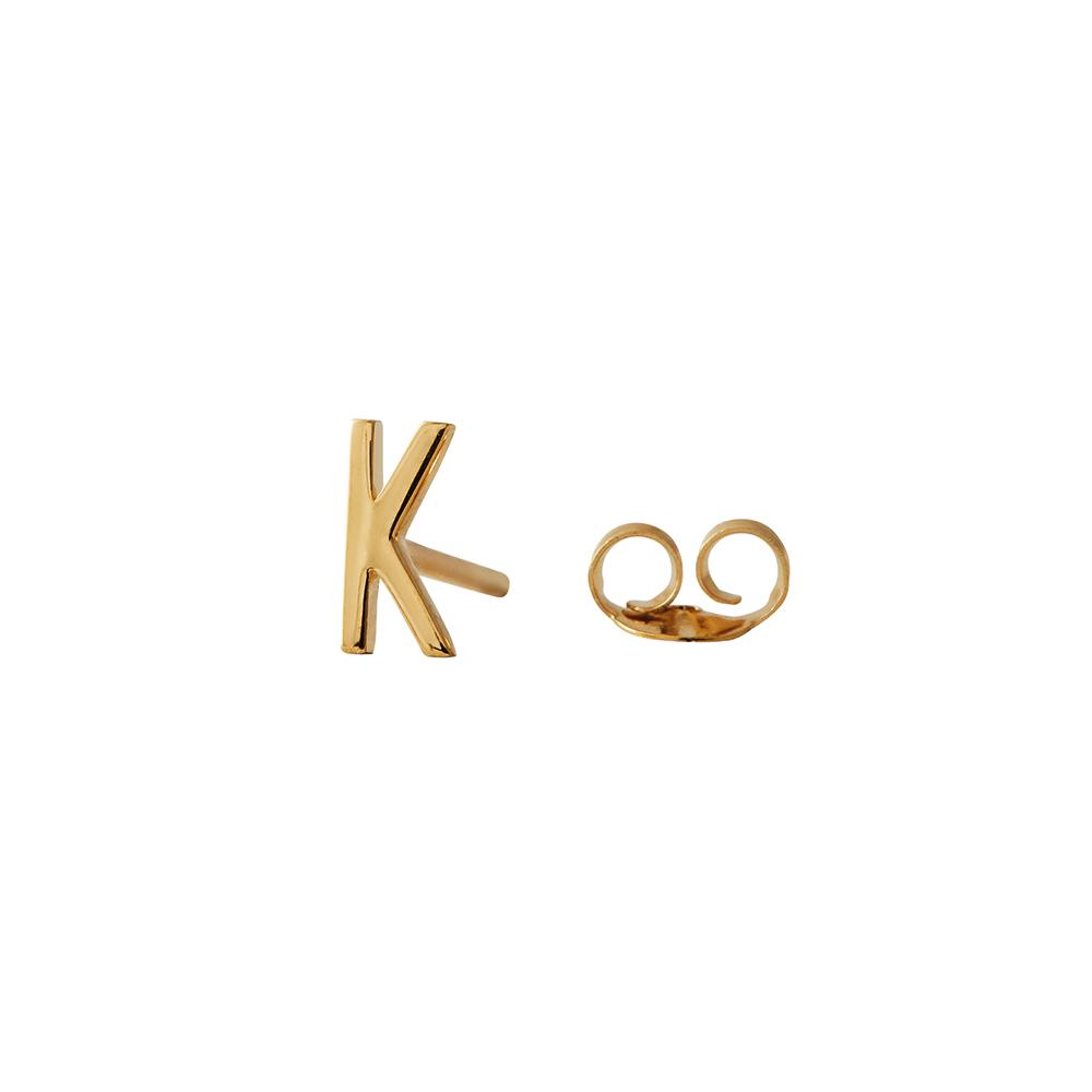 Design Letters Örhänge Guld Bokstav K