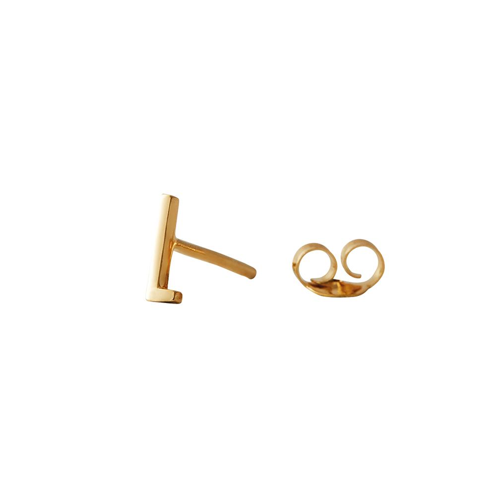 Design Letters Örhänge Guld Bokstav L