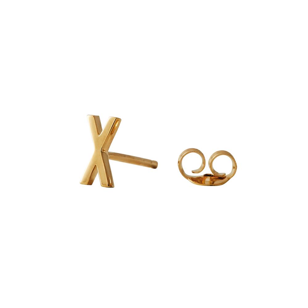 Design Letters Örhänge Guld Bokstav X