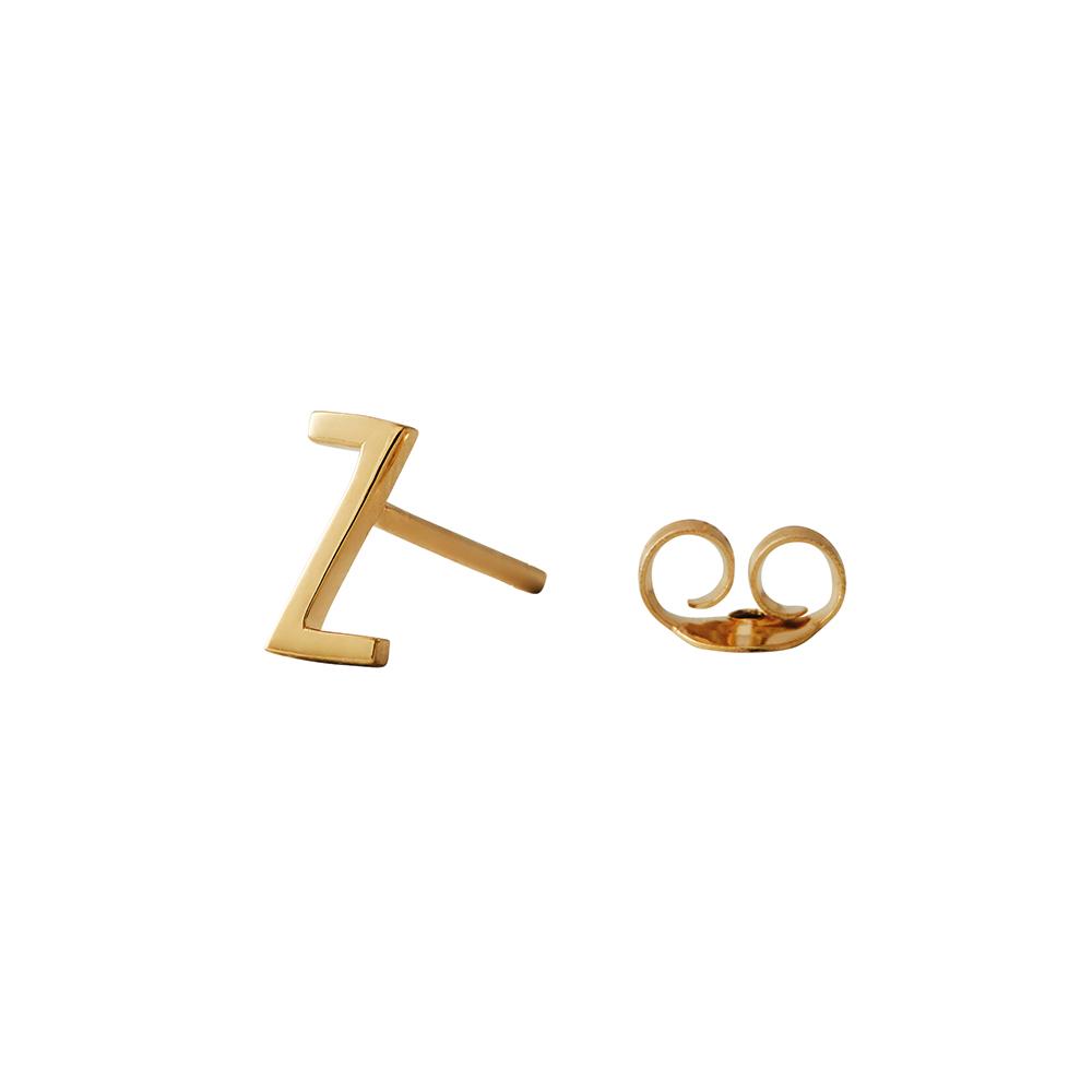 Design Letters Örhänge Guld Bokstav Z