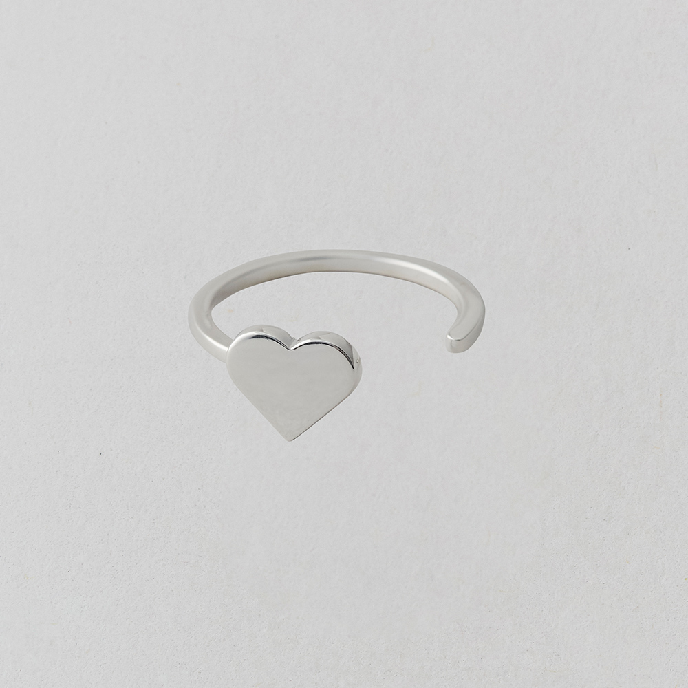 Design Letters Ring Heart Silver