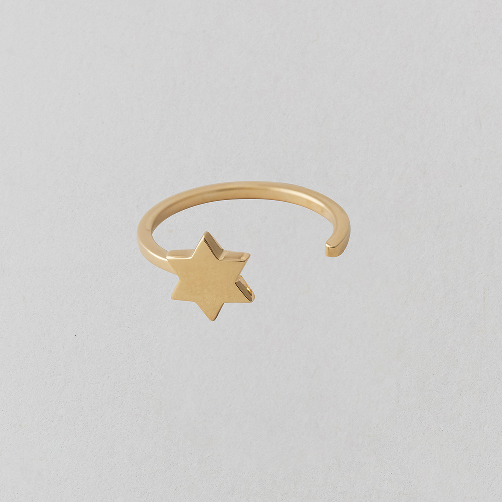 Design Letters Ring Star Guld