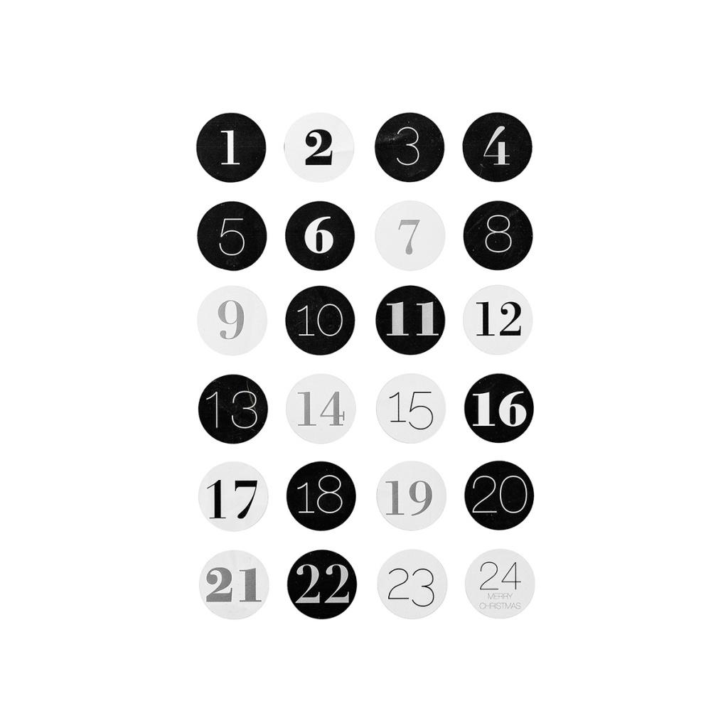 Bloomingville Klistermärke Siffror 1-24