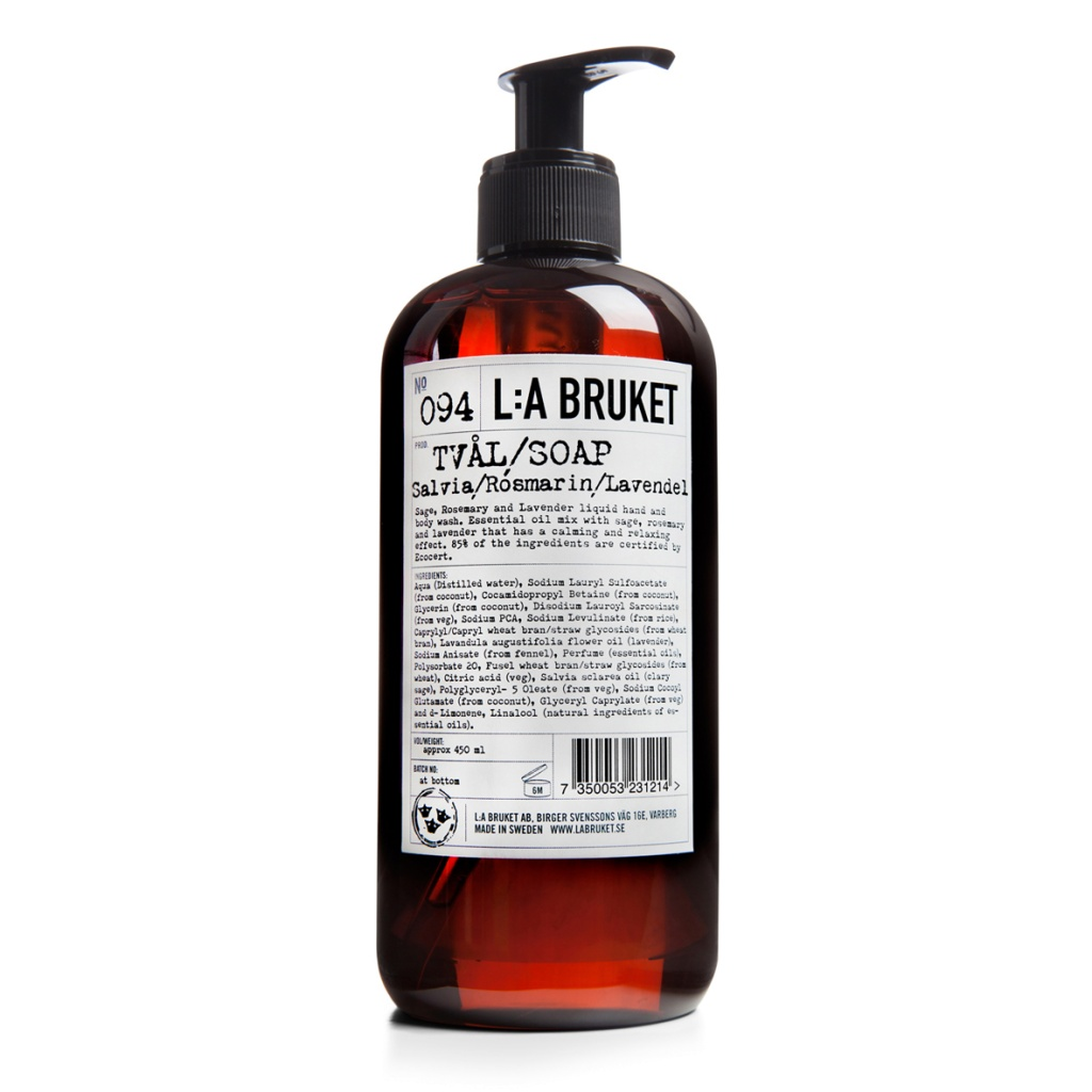 L:a Bruket Flytande tvål Salvia, lavendel, Rosmarin 450 ml