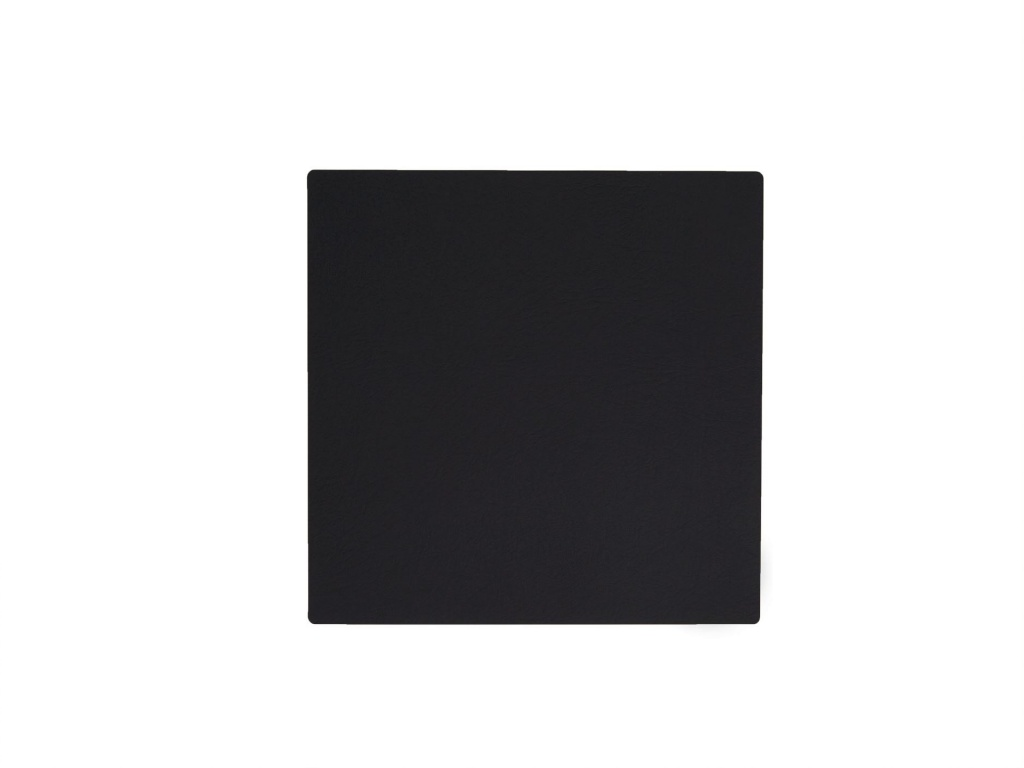 Lind DNA Glasunderlägg Square 10x10cm Softbuck Black