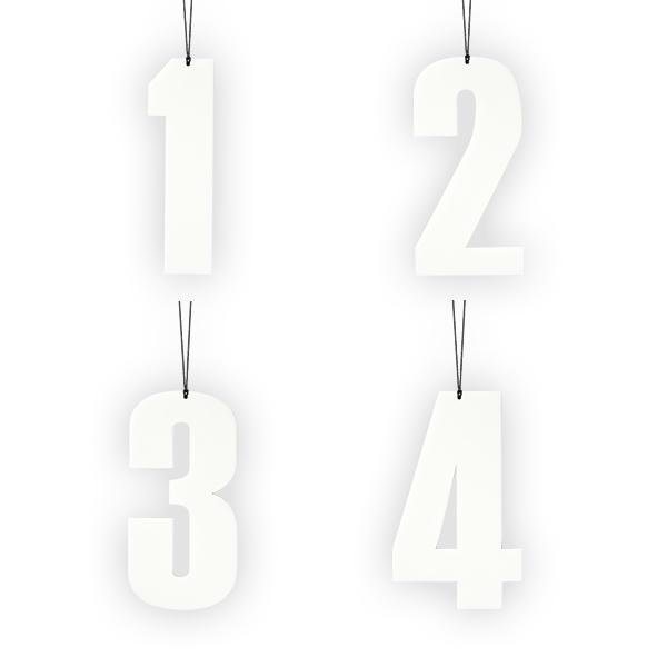 Felius Design Advents siffra 1-4 Vit