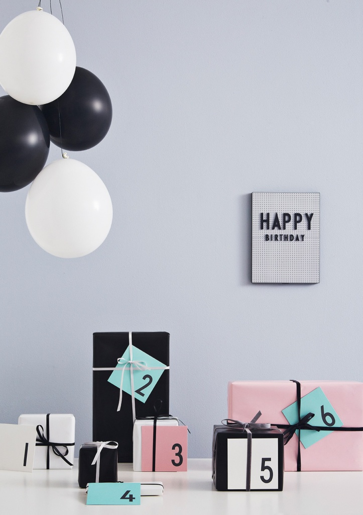 Design Letters Birthday Card Vit