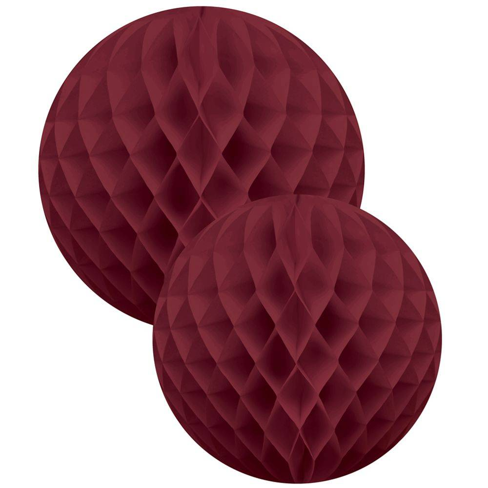 Honeycomb ball  2-set Bordeaux