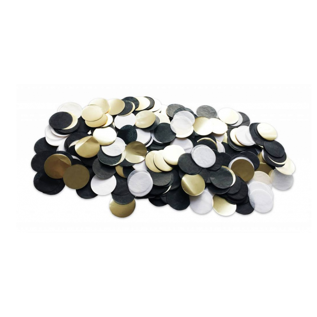 Confetti Black/Gold/grey 35 gram