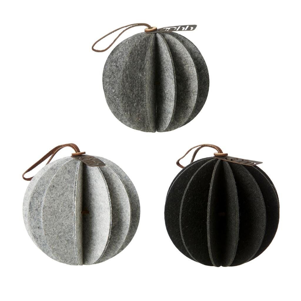 OOHH Kula Hängande 3-pack Vit/grå/svart