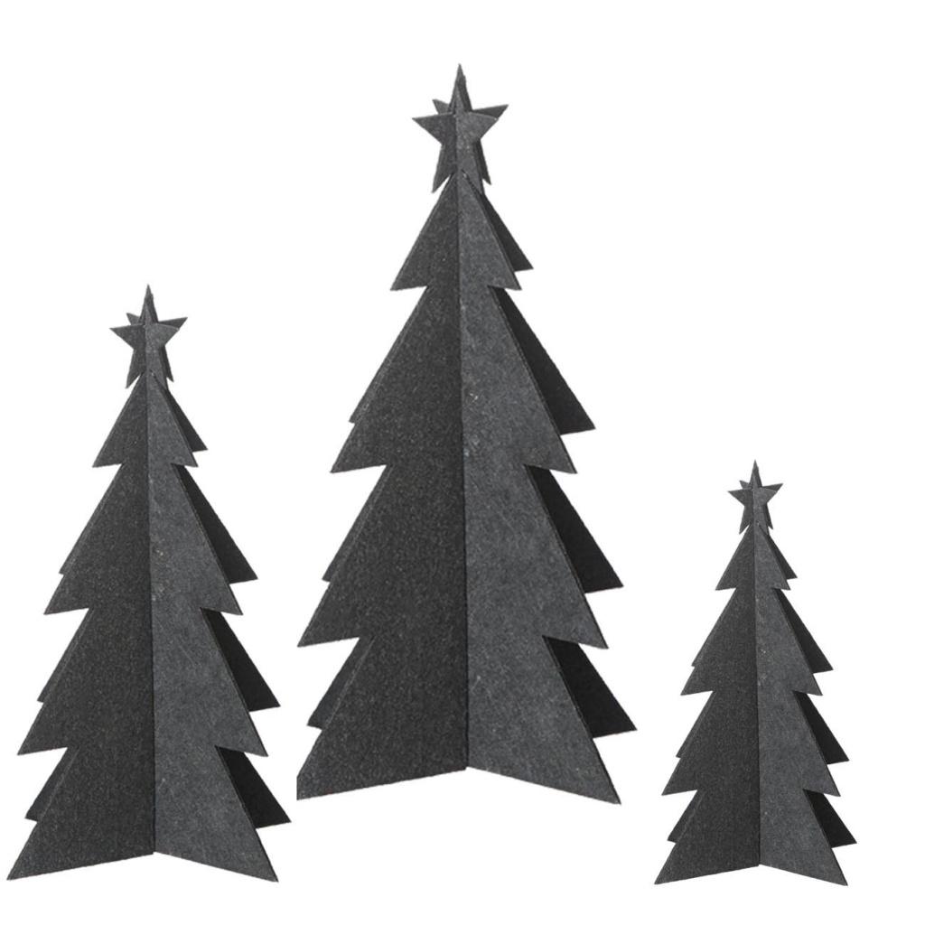 OOHH X-mas tree 3-pack Black