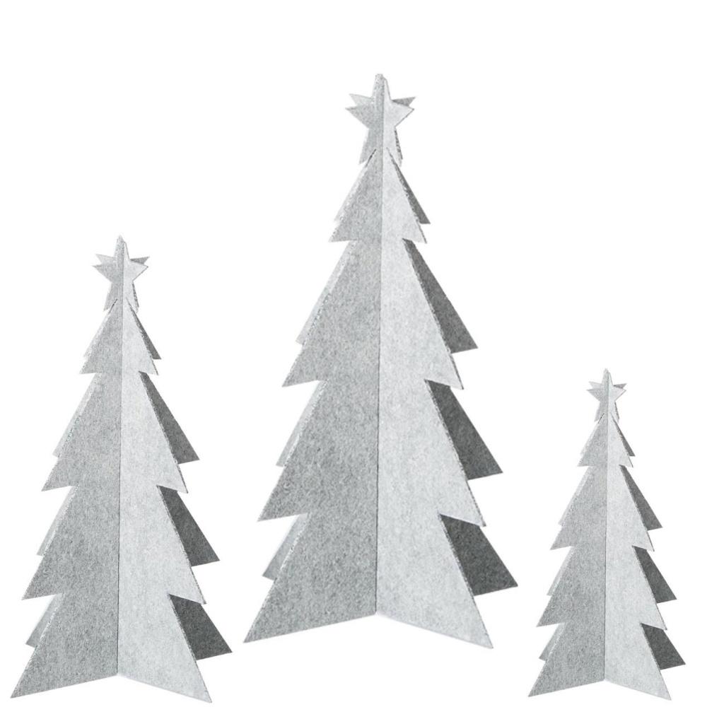 OOHH X-mas tree 3-pack White