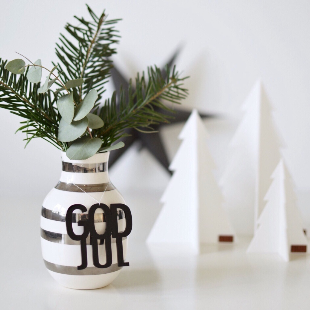 Felius Design Hänge GOD JUL Svart 2-pack