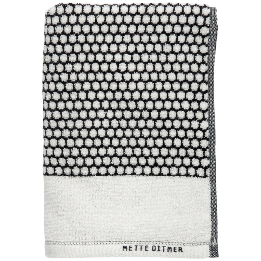 Mette Ditmer Grid Gästhandduk Black/offwhite