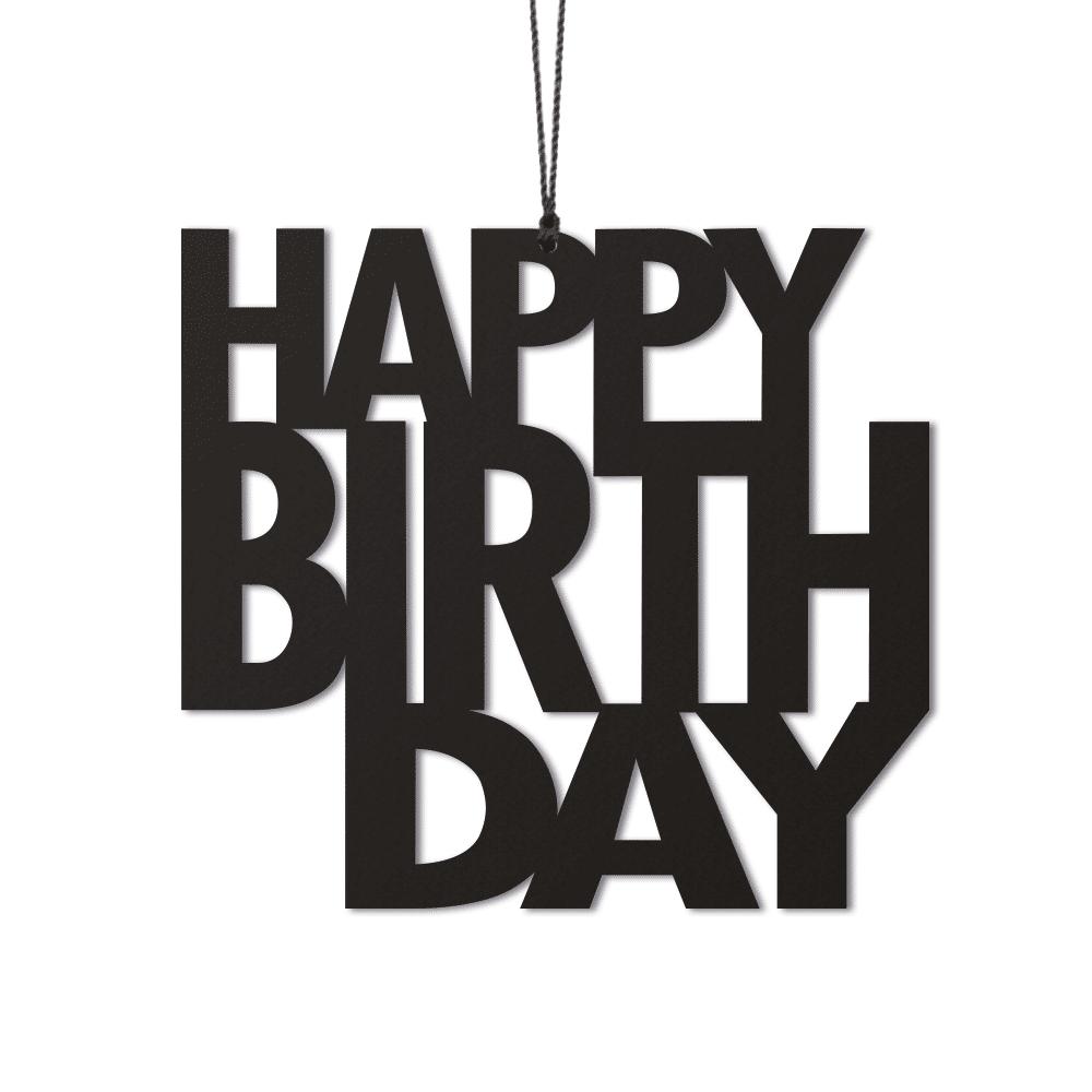 Felius Design Dekoration Happy Birthday 2-pack Svart
