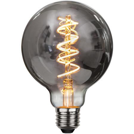 Ljuskälla LED-lampa E27 4 W Smoke Glas 95 mm