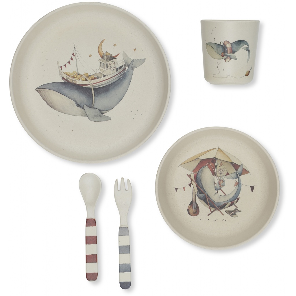 Konges Sløjd Dinner set Whale