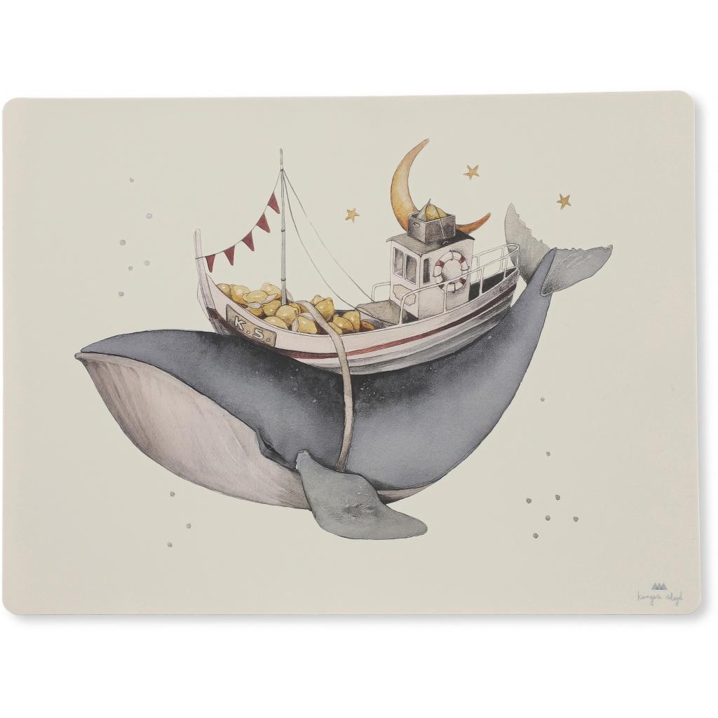 Konges Sløjd Underlägg Silikon Whale