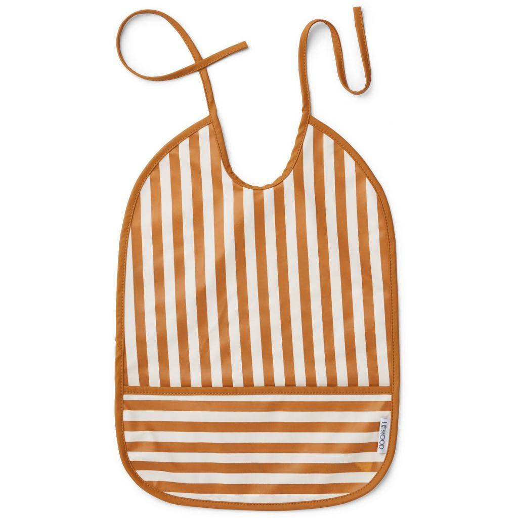 Liewood Lai Bib Stripe Mustard/Creme de la creme