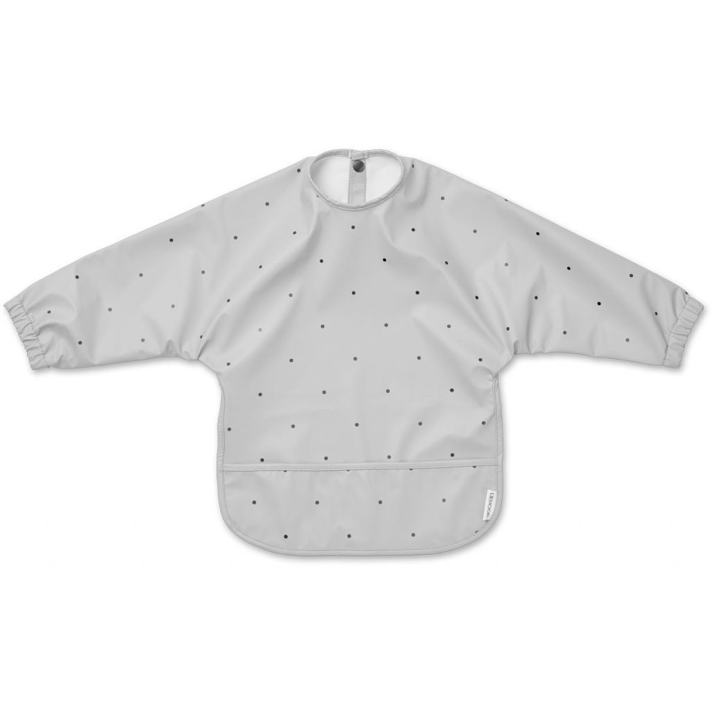 Liewood Merle Sleeved Bib Dumbo Grey Dot