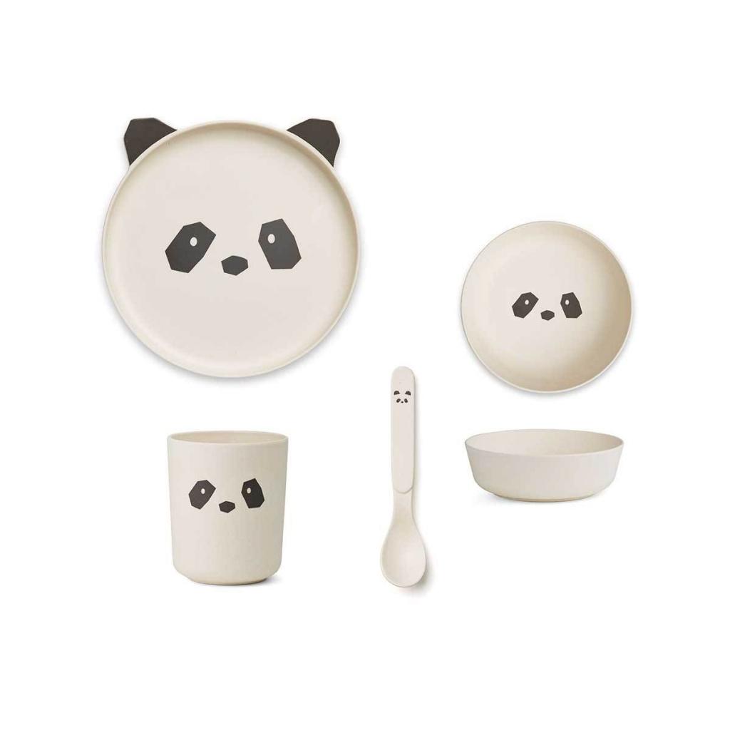 Liewood Bamboo Box Panda Creme de la Creme
