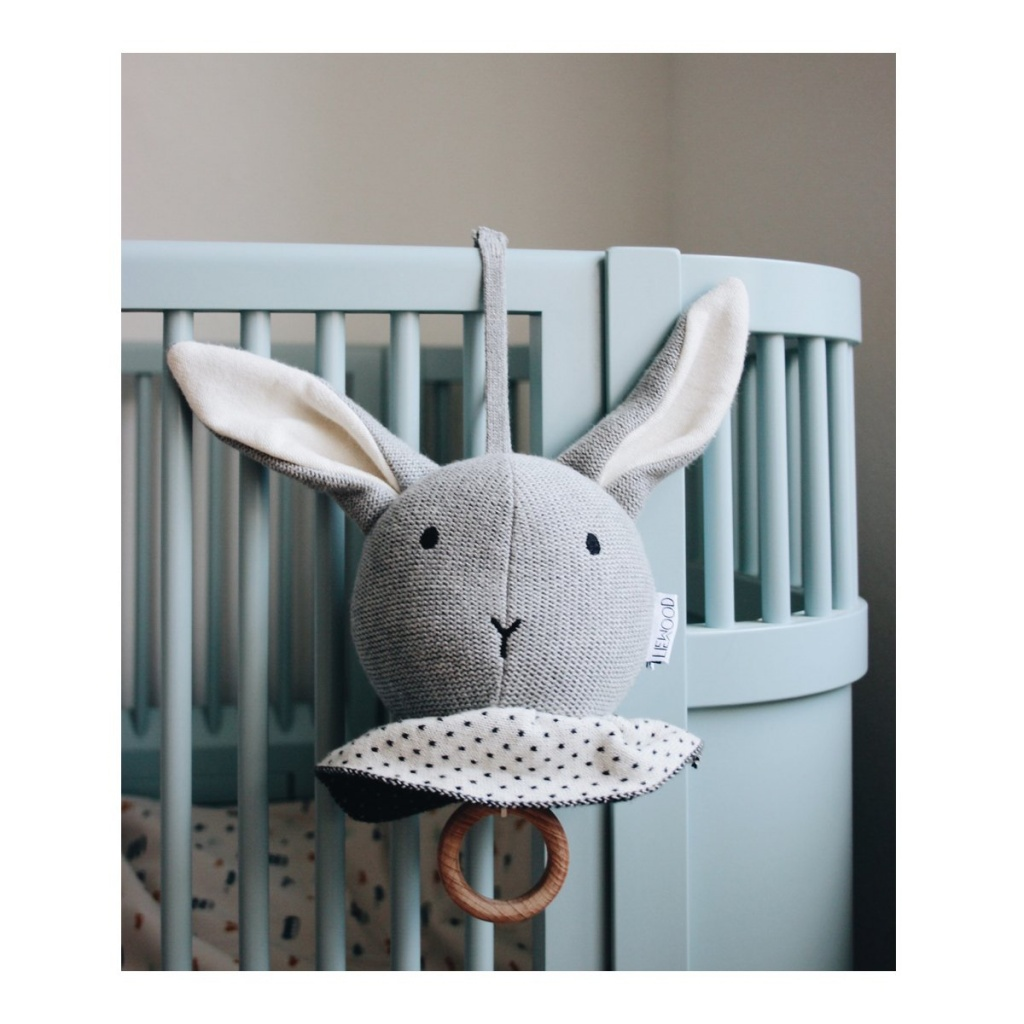 Liewood Angela Music Mobile Rabbit Grey