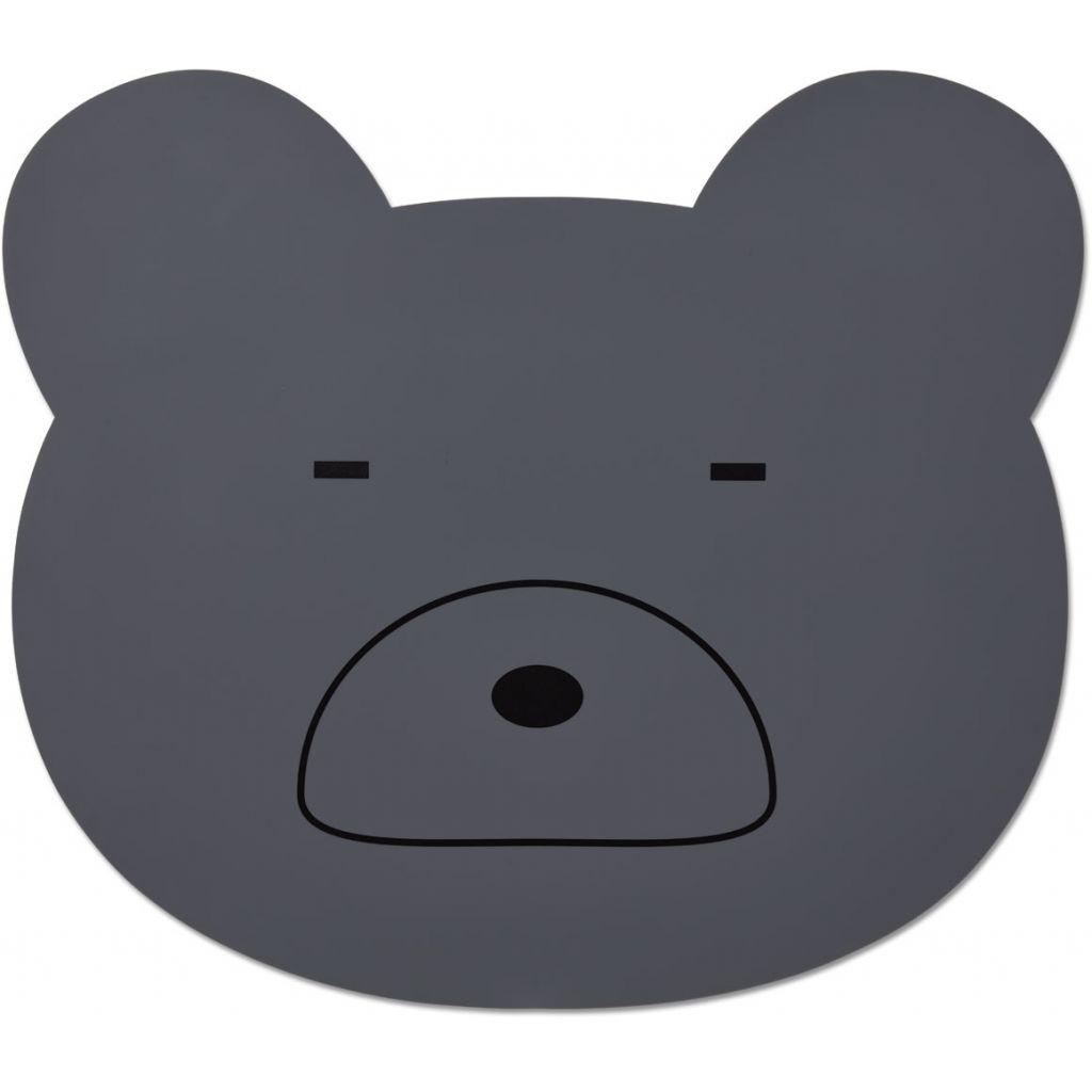 Liewood Aura Placemat Bear Stone grey