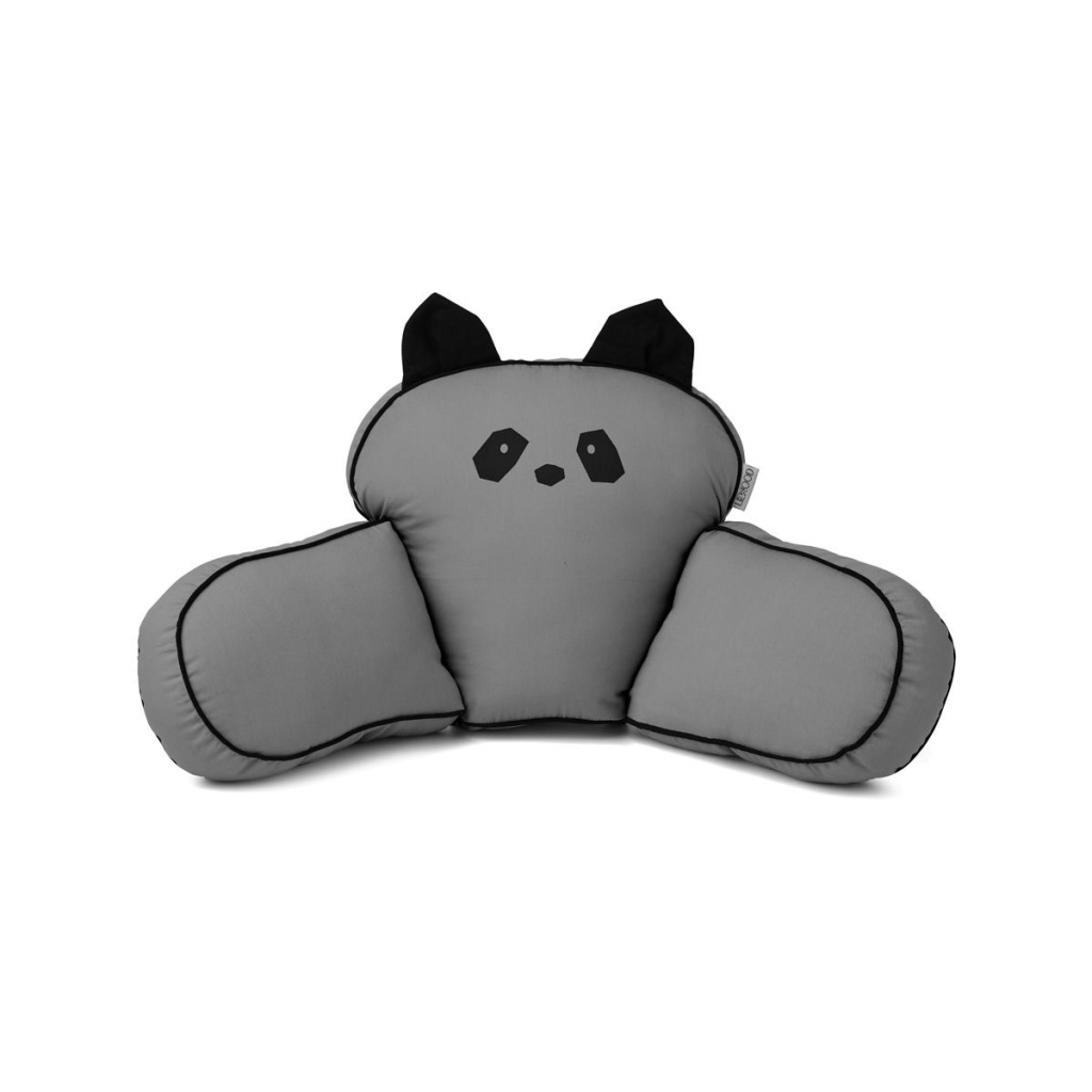 Liewood Casper Kudde Barnvganskudde Panda Stone Grey