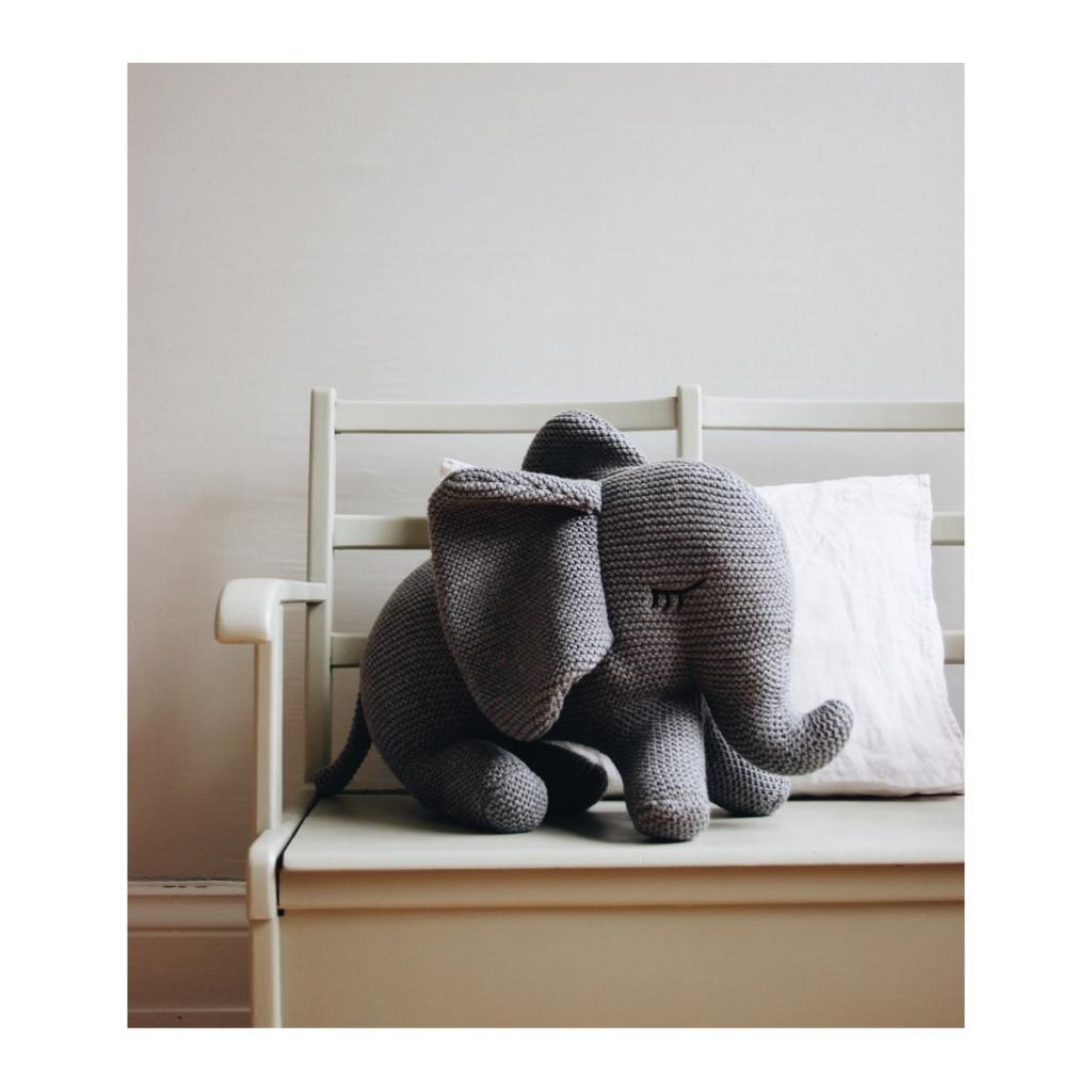 Liewood Dextor Knit Teddy Elephant Grey
