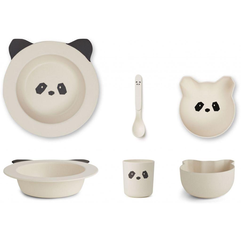 Liewood Barbara Bamboo Baby Set Panda de la Creme