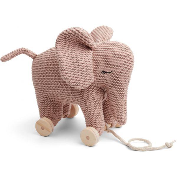 Liewood Dahlia Elefant på hjul Rose