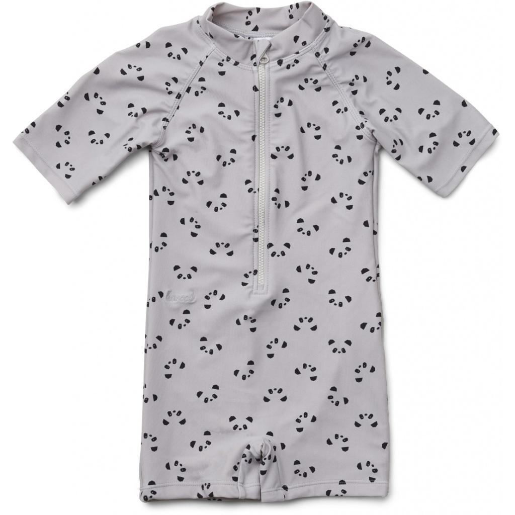 Liewood Max Swim jumpsuit Panda dumbo grey