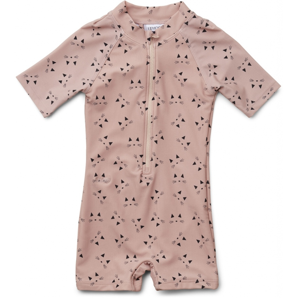 Liewood Max Swim jumpsuit Cat rose