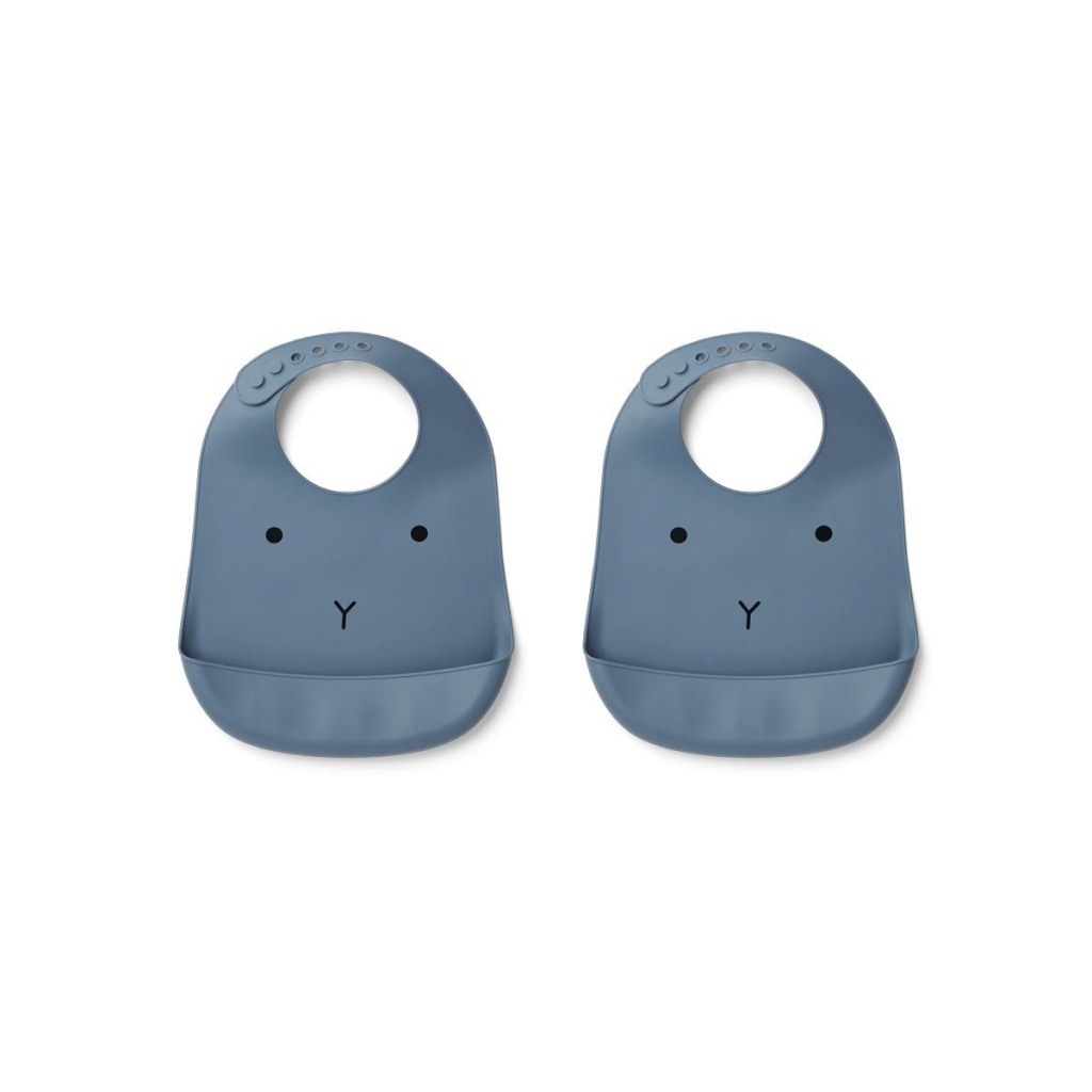 Liewood Tilda Haklapp Silikon 2-pack Rabbit Blue Wave