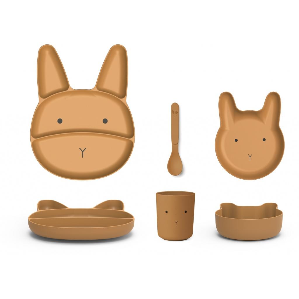 Liewood Jules Bamboo Junior Set Rabbit Mustard