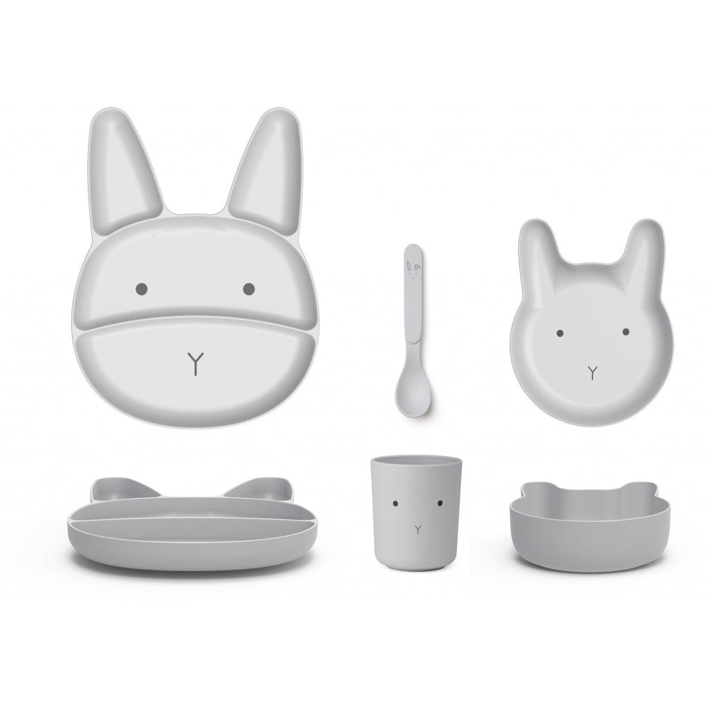 Liewood Jules Bamboo Junior Set Rabbit Dumbo Grey