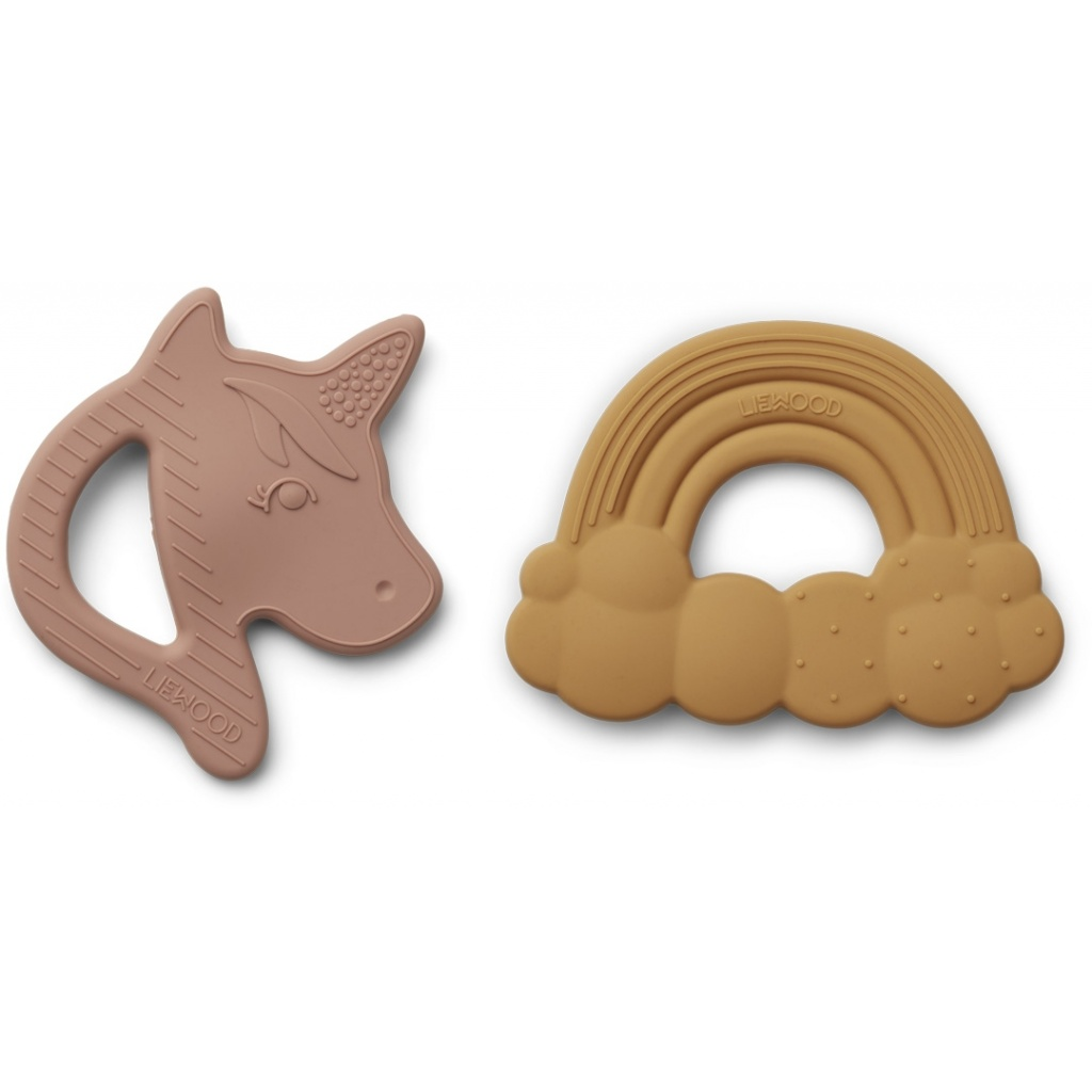 Liewood Unicorn Roxie Bitring 2-pack Rose Mix - Limited Edition