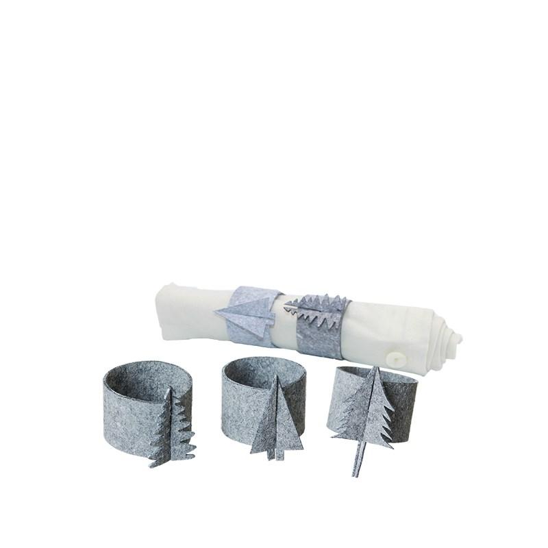 OOHH Servettringar 6-pack Grey