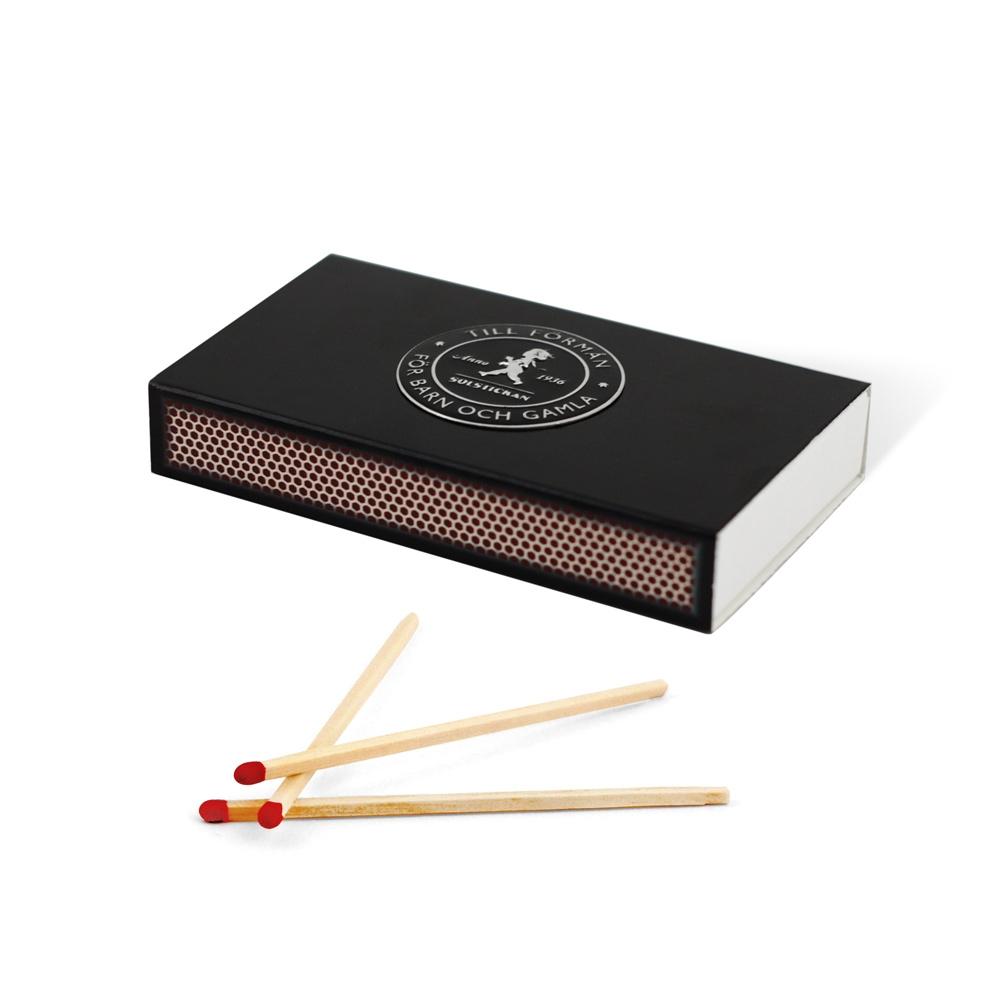 Solstickan design Tändstickor Svarta