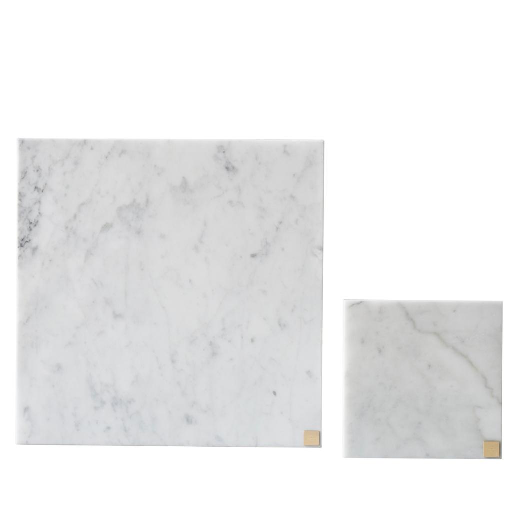 Skultuna Cararra marble plate 30x30 cm