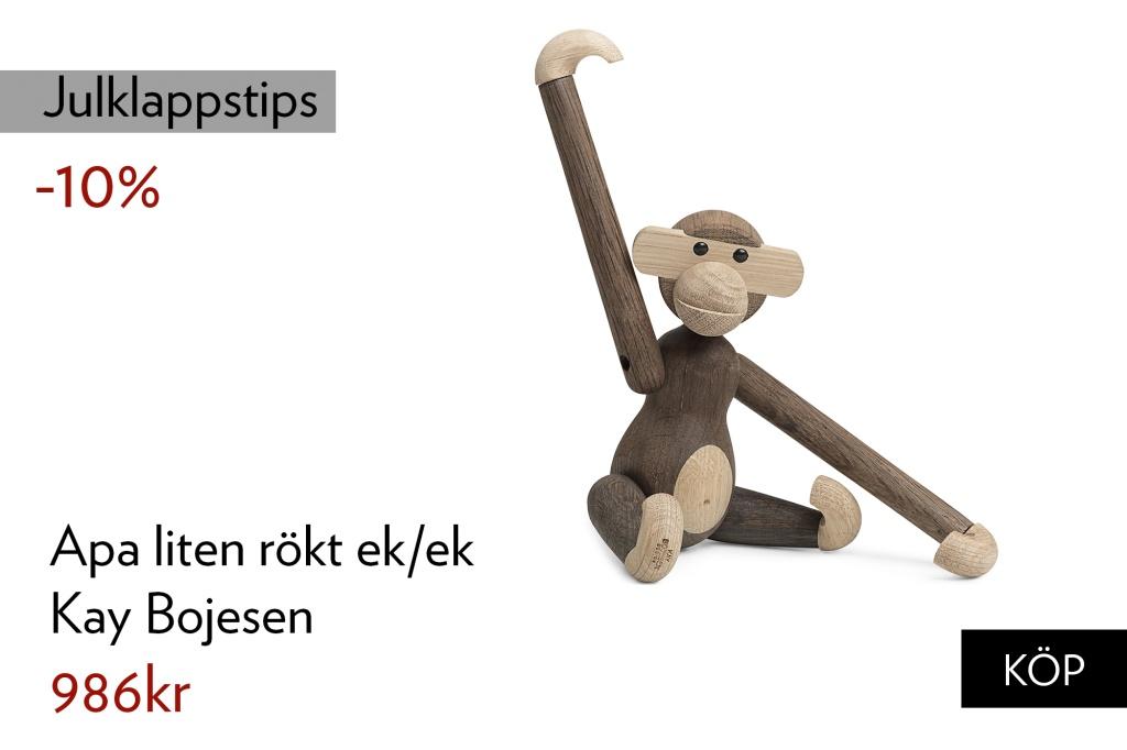 Kay Bojesen Apa liten rökt ek/ek