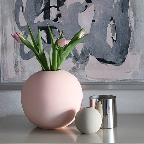 Cooee Design Ball Vase Dusty Pink