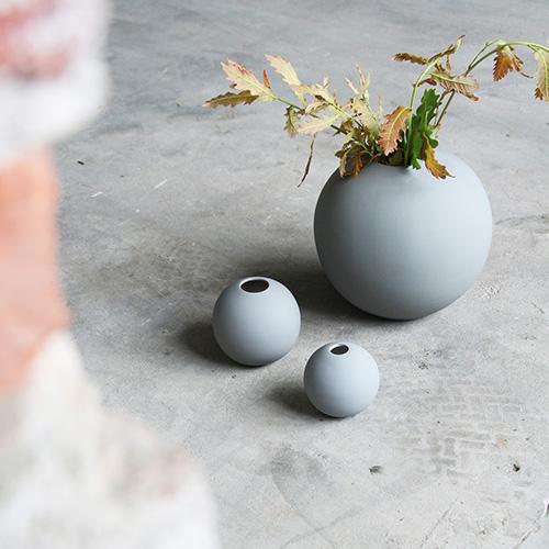 Cooee Design Ball Vase Grey
