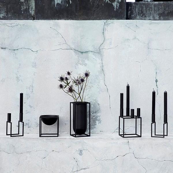 By Lassen Kubus Vase Lolo Black