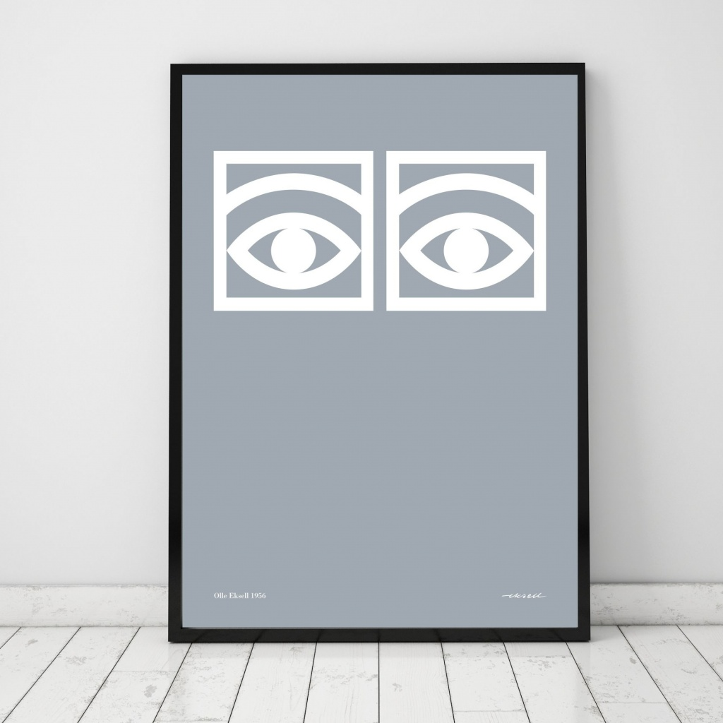 Olle Eksell Ögon Cacao One Eye Grey 50×70