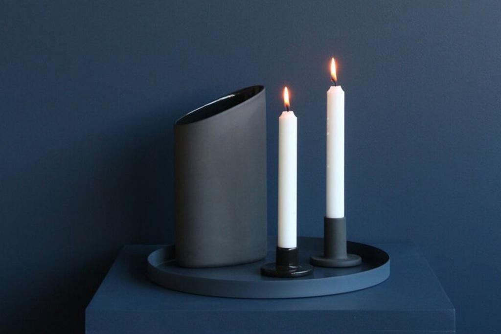 Cooee Design Ceramic Candlesticks 2-pack
