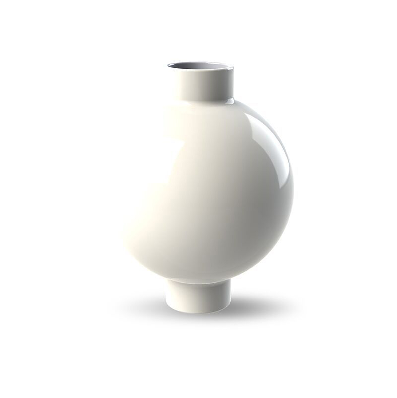 Cooee Design Collar Vase 14cm White