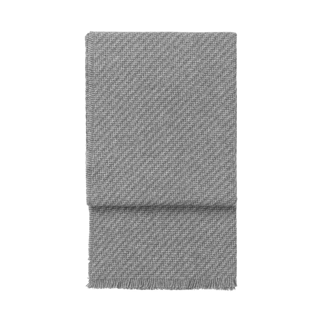 Elvang Pläd Diagonal Throw Grey/Light Grey