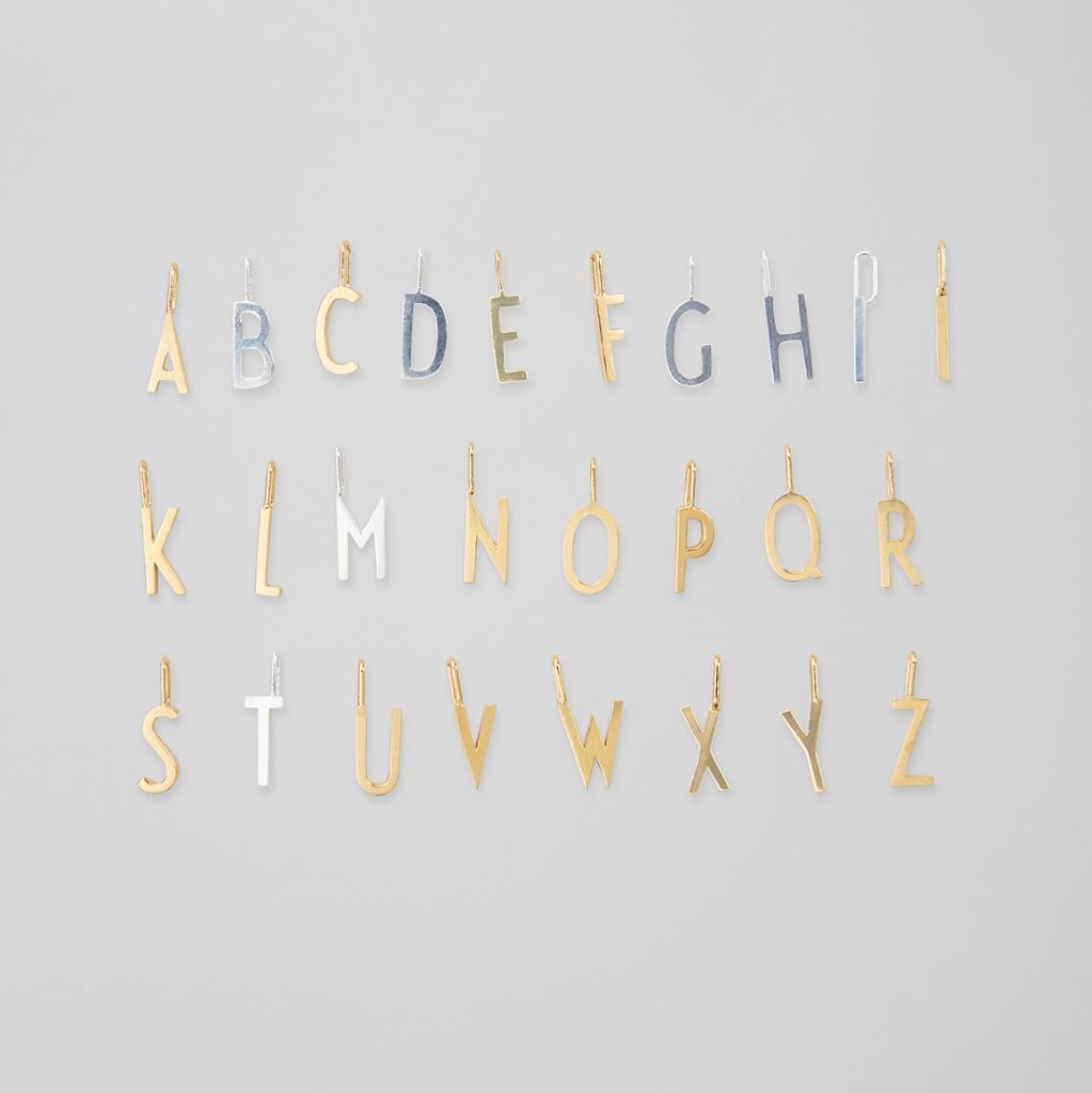 Design Letters Berlock Bokstav A-Z Guld 10mm